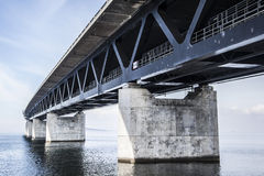 The Oresund Bridge,oresunds bron Royalty Free Stock Photo
