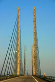Oresund Bridge Seen From A Car Royalty Free Stock Photography