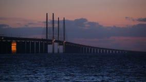 Oresund Bridge stock video footage