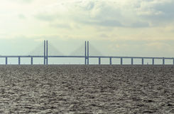 Oresund bridge between Sweden and Denmark. Malmo, Sweden March 07,2017 Royalty Free Stock Image