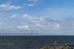 Oresund bridge, Sweden Denmark. In a sunny day Royalty Free Stock Images
