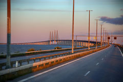 Oresund bridge between Sweden and Denmark Royalty Free Stock Photos