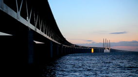 Oresund Bridge, Sweden stock footage