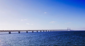 Oresund Bridge Sweden Malmo Royalty Free Stock Photo