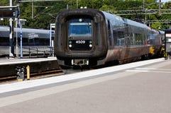 Oresund drev på den Kalmar järnvägstationen arkivfoto