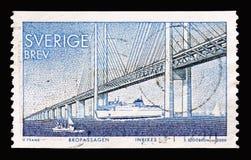 Oresundbrug, Voltooiing van een vast verband tussen Denemarken en S stock foto's