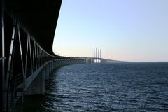 Oresunds bridge Royalty Free Stock Photography
