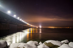 Oresunds bridge night stock images