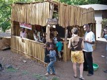Orfanato pequeno em Tanzânia, África, novembro 2008 Foto de Stock