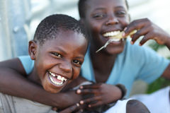 Orfani in un collegio orfano sull'isola di Mfangano, Kenya Fotografia Stock