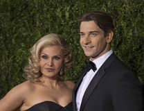 Orfeh and Andy Karl Arrive at the 2015 Tony Awards. Singer/songwriter/actress Orfeh and husband, actor Andy Karl, arrive on the red carpet for the 69th Annual Royalty Free Stock Image
