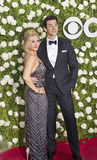 Orfeh en Andy Karl Stock Foto