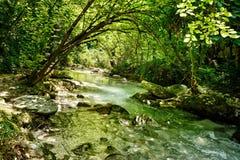 Orfento dal nära Caramanico Terme i Abruzzo Italien Royaltyfri Bild