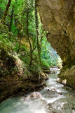 Orfento dal nära Caramanico Terme i Abruzzo & x28; Italy& x29; Royaltyfri Bild