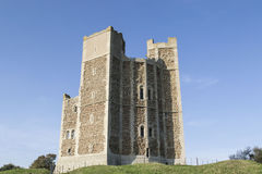 Orford Castle in England. Well preserved Normandy Castle, Orford Castle. in Britain Stock Photography