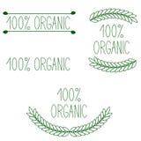 100% orgânico ilustração stock