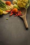 Orgânico, alimento, fundo, fresco, mercado, verão, madeira, projeto, cozinheiro, de madeira Imagens de Stock Royalty Free