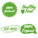 Orgânico, bio, logotypes naturais da ecologia ajustados Imagem de Stock