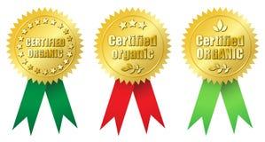Orgânico certificado Imagem de Stock Royalty Free