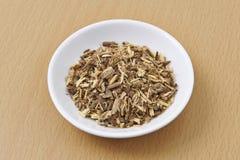 Orgânico da raiz de alcaçuz secado Foto de Stock Royalty Free