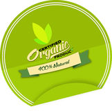 100% orgânico natural Foto de Stock