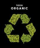 """Orgânico recicle o arquivo da ilustração do estoque do †da ilustração estoque """"do †do vetor do """" Fotografia de Stock Royalty Free"""