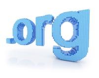 Org del punto del símbolo del dominio del pixel Foto de archivo libre de regalías