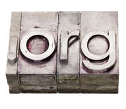 Org del punto - dominio del Internet de la organización Fotografía de archivo