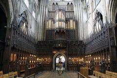Orgaanzaal in Ripon-Kathedraal Stock Foto's