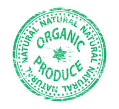 Orgainic Produce Rubber Stamp Royalty Free Stock Images
