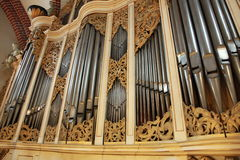 Organ. Church organ in Old Riga, Latvia Stock Photography