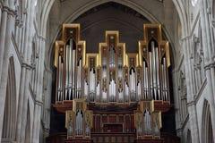 Organ in Almudena Cathedral Stock Photos