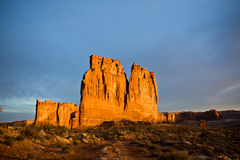 The Organ at Arches National Park. The Organ at sunrise in Arches National Park in Moab Utah Stock Photography