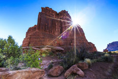 The Organ at Arches National Park Stock Photo