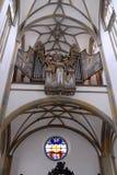 Organ av basilikan av St Ulrich och St Afra i Augsburg, Bayern (Tyskland) Fotografering för Bildbyråer