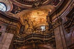 Organ av Sts Peter kyrka aka Peterskirche royaltyfria foton