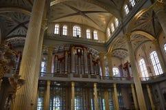 Organ in the Basilica of Licheń, Poland. Basilica of Licheń, Poland - organ Stock Photos
