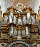 Organ in Basilica Saint Hubert. SAINT-HUBERT, BELGIUM-MAY 31, 2014: Organ in Basilica Saint Hubert. This basilica is a main architectural attraction of the city Stock Image