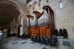 Organ in the Basilica of Saint Nicholas in Bari, Puglia, Italy Stock Photos