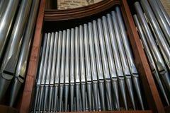 Organ in the Basilica of Saint Nicholas in Bari, Puglia, Italy royalty free stock photo