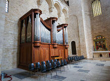 Organ in the Basilica of Saint Nicholas in Bari, Puglia, Italy Royalty Free Stock Photo