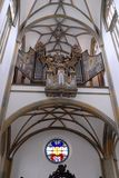 Organ of the Basilica of St. Ulrich and St. Afra in Augsburg, Bavaria (Germany) Stock Image