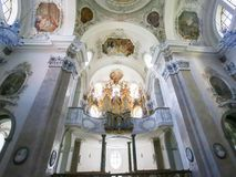 Organ in Basilika St. Mang in Fussen, Bayern, Deutschland Lizenzfreies Stockfoto