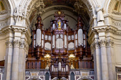 Organ. In the Berlin cathedral Royalty Free Stock Image