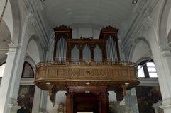Organ in Burano Cathedral of San Martino Royalty Free Stock Image