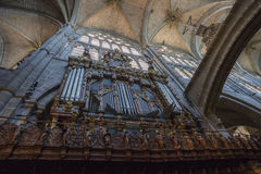 Organ of the Cathedral of Avila, Spain Stock Images
