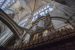 Organ of the Cathedral of Avila, Spain Royalty Free Stock Photo