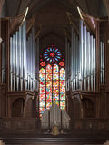 Organ in the cathedral in Poznan Royalty Free Stock Photo