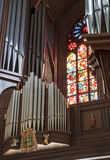 Organ in the cathedral in Poznan Royalty Free Stock Images