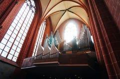Organ of Cathedral of saint Bartholomew Royalty Free Stock Photo